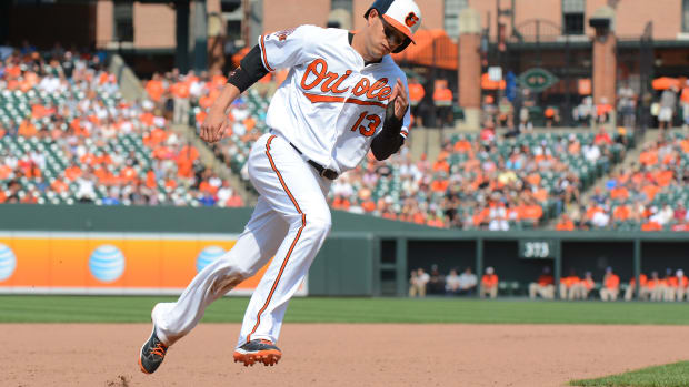 The Baltimore Orioles placed third baseman Manny Machado on the 15-day DL with a right knee sprain