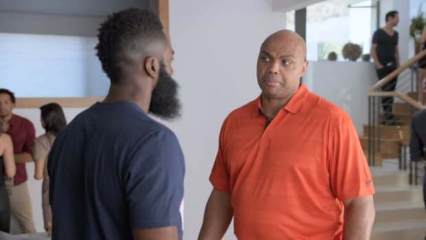 James Harden Gets advice from Scottie Pippen and Charles Barkley