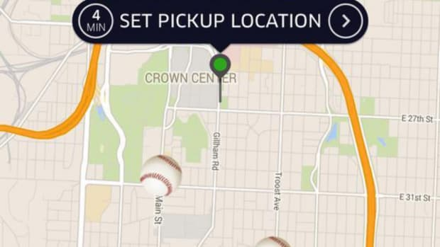 Kansas City uber cars show up as baseballs