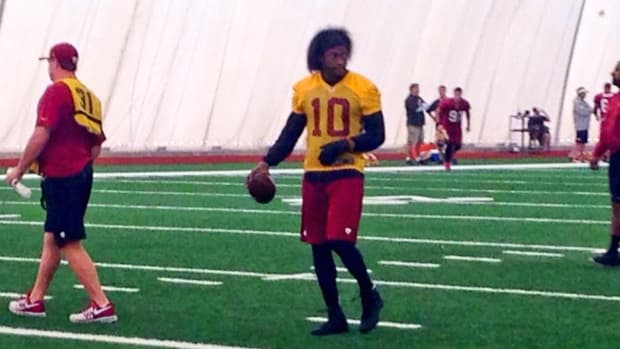 RG III practices for first time since dislocating his ankle