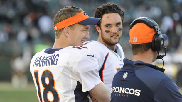 Broncos backup QB not mad at Peyton Manning for going back in game