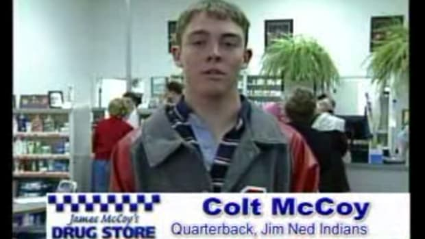 Redskins' Colt McCoy was a drug store pitchman in hIgh School