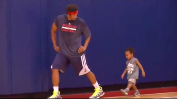 andre miller adorable son workout