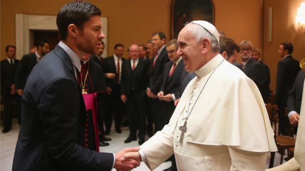 Bayern Munich met with the Pope