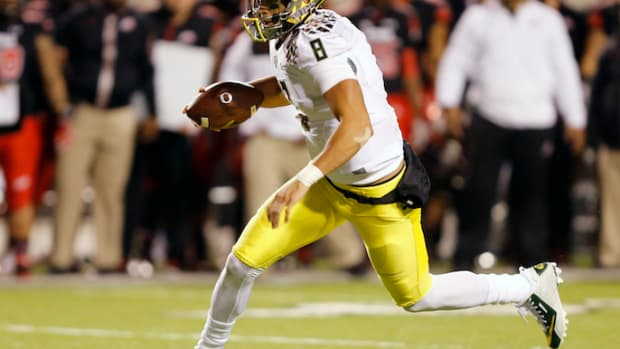 Oregon Ducks Marcus Mariota speeding ticket