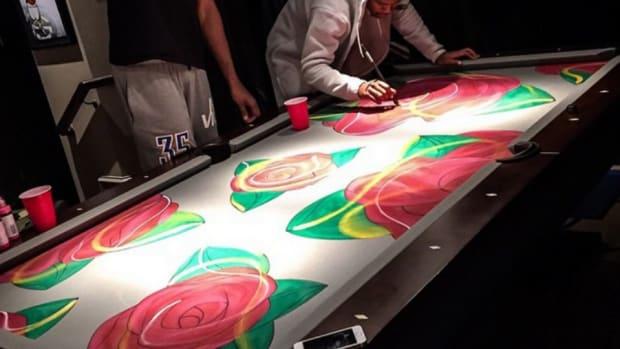 Oklahoma City Thunder's Kevin Durant has a custom pool table