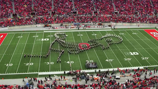 Ohio State marching band's amazing halftime tribute to classic rock