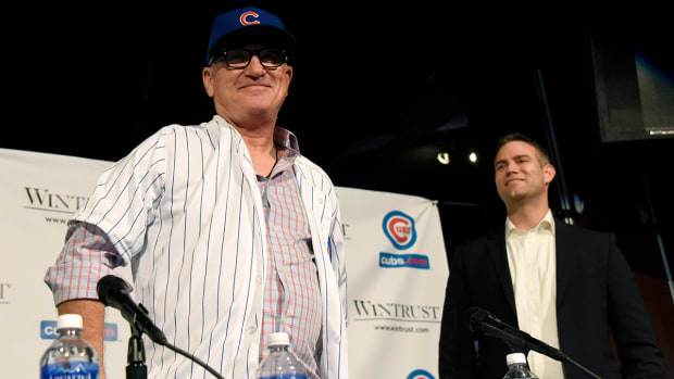Cubs introduce Joe Maddon as manager IMAGE