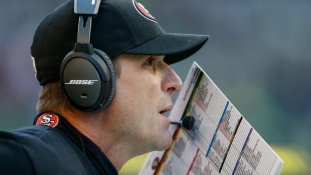 San Francisco 49ers coach Jim Harbaugh