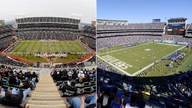 O.co Coliseum and Qualcomm Stadium