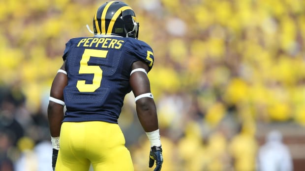 Jabrill Peppers Michigan ankle injury notre dame