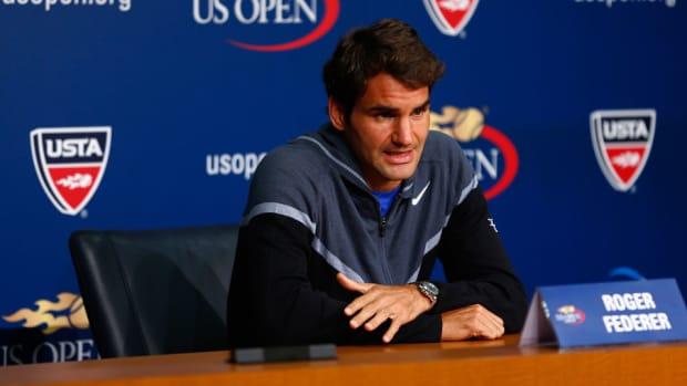 Roger Federer U.S. Open 2014 media day