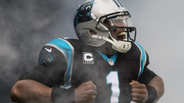 Cam Newton give a repetitive press conference on Wednesday