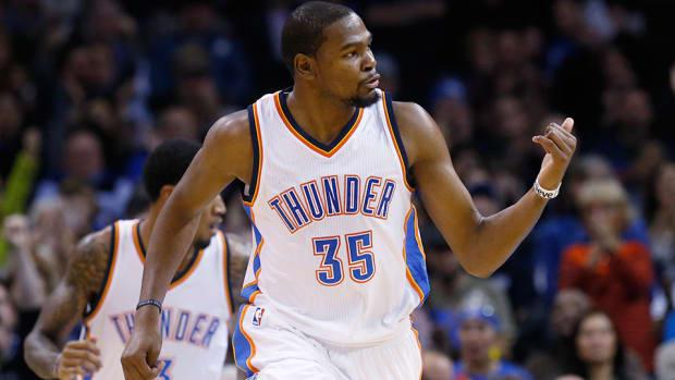 Kevin Durant Oklahoma City Thunder 15,000