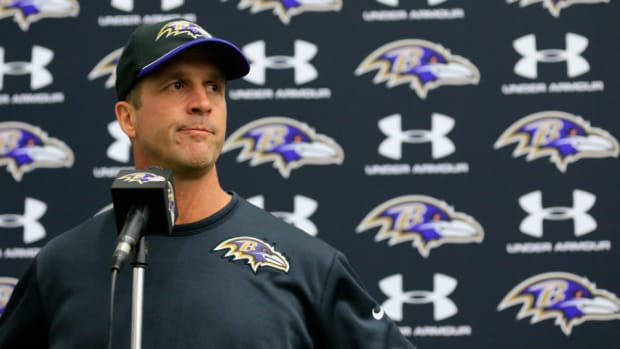 John Harbaugh defends Ravens handling Ray Rice