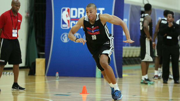 Dante Exum at the 2014 NBA draft combine