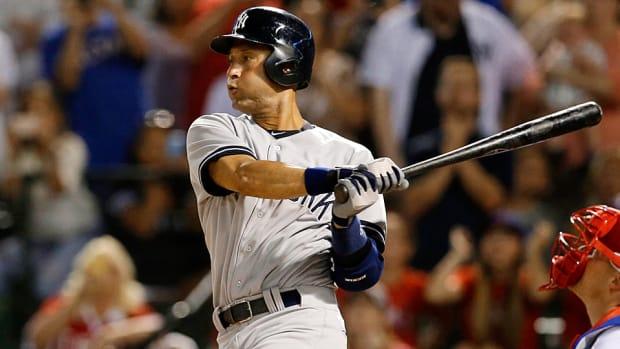 Derek Jeter New York Yankees passes Yaz
