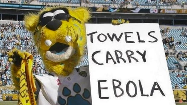 Jaguars apologize for mascot's Ebola joke