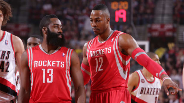 Rockets' James Harden and Dwight Howard
