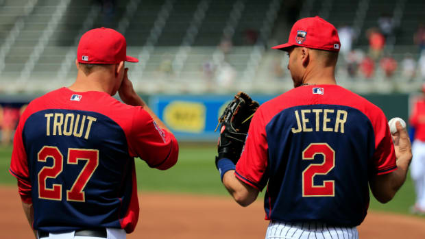 Yankees' Derek Jeter and Angels' Mike Trout