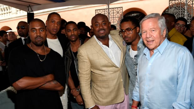 robert kraft kanye west jay-z grammys brunch