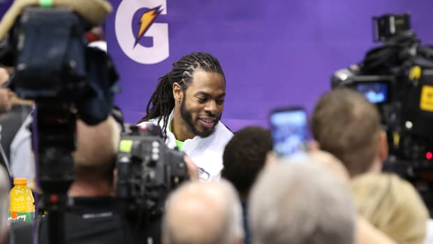 Richard Sherman: Roger Goodell 'should be obligated to talk weekly' IMAGE