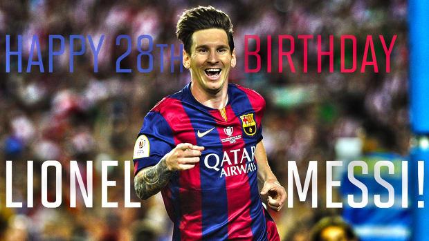 Lionel Messi celebrates his 28th birthday IMAGE