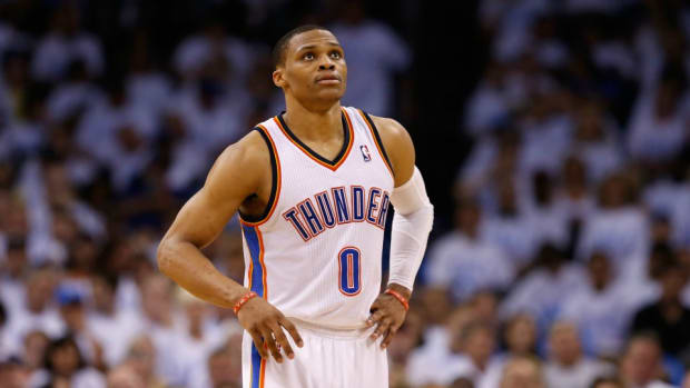 Ernie Johnson asks Russell Westbrook about execution