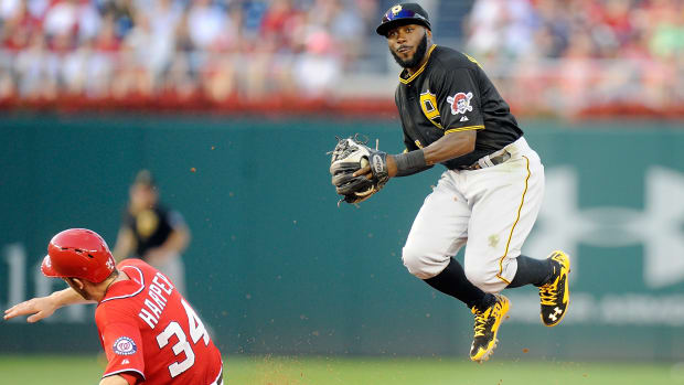 Pirates place Josh Harrison (thumb) on 15-day DL IMAGE