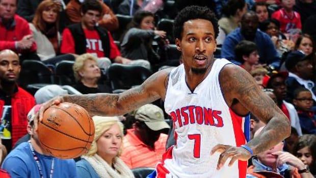 Detroit Pistons recall point guard Brandon Jennings from D-League -- IMAGE