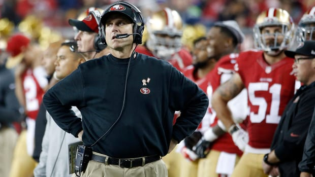 Harbaugh says he didn't leave 49ers by choice