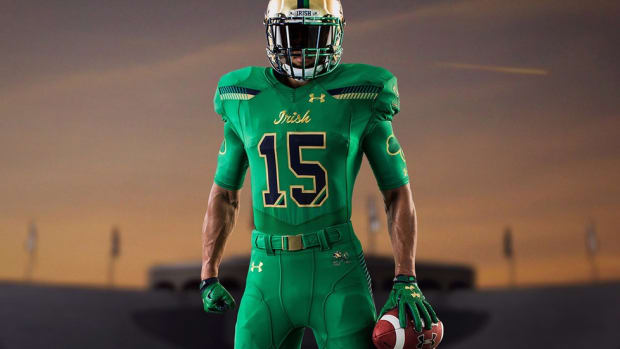Notre Dame's Shamrock Series jerseys a 'no-brainer' to honor Irish-American heritage of ND and Boston