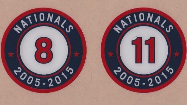 Washington Nationals have tenth anniversary bat knobs