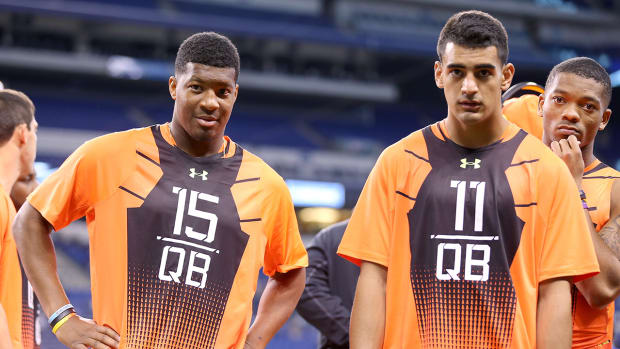 How did QB's fare in Combine throwing drills? IMG