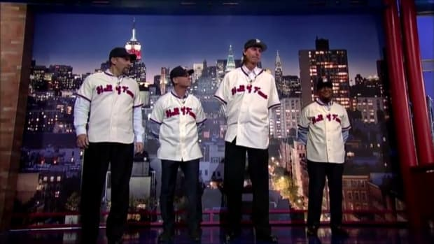2015 Hall of Fame class reads the Top Ten list on Letterman