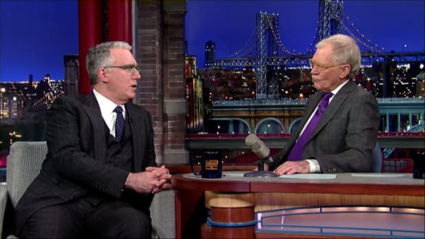 Keith Olbermann talks Twitter, suspension with David Letterman