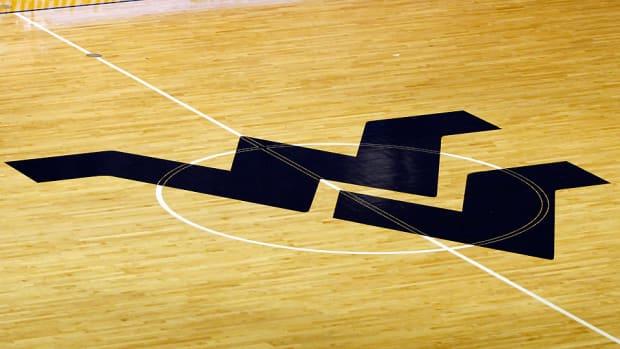 west virginia basketball court logo