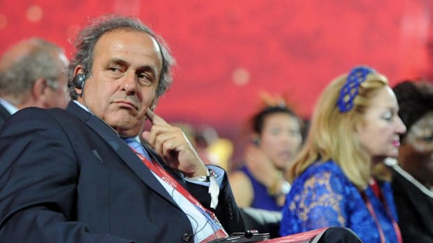 Michel Platini confirms intentions to run for FIFA presidency--IMAGE