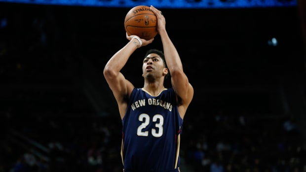 Anthony Davis Pelicans free throw