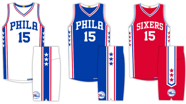 Philadelphia 76ers unveil new uniforms IMAGE