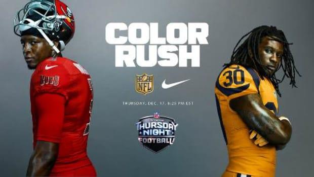 NFL reveals Week 15 Color Rush uniforms for Buccaneers vs. RamsNFL reveals Week 15 Color Rush uniforms for Buccaneers vs. Rams IMAGE