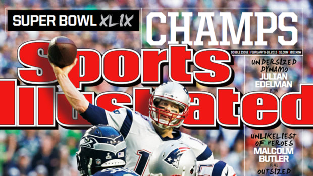 Tom Brady and the Super Bowl Champion Patriots featured on this week's Sports Illustrated cover