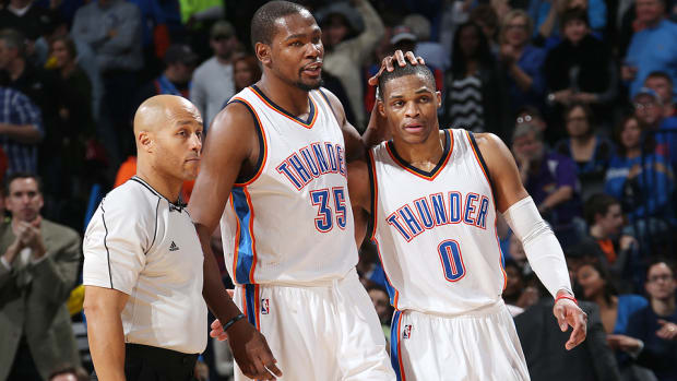 Kevin Durant Russell Westbrook Thunder 960 white
