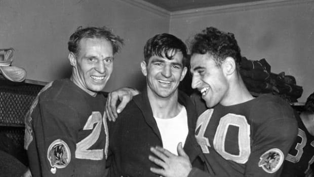 Cliff Battles, Sammy Baugh and Wayne Millner