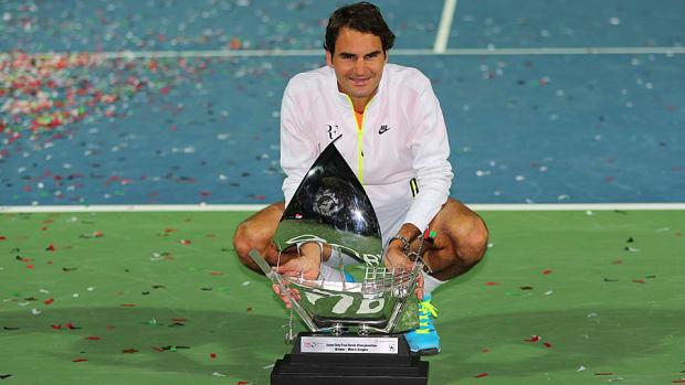 Roger Federer Dubai title 2015