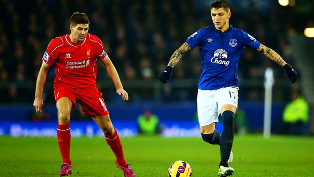 Steven Gerrard Liverpool vs. Everton