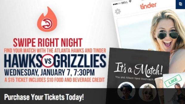 Atlanta Hawks are hosting a Tinder night