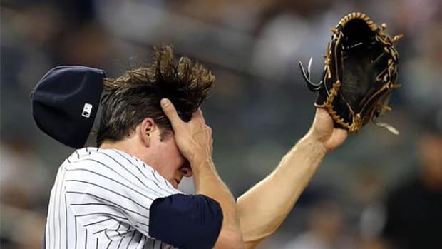 Yankees pitcher Bryan Mitchell hit in face by line drive, has nasal fracture -- IMAGE