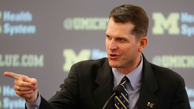 michigan wolverines jim harbaugh student president