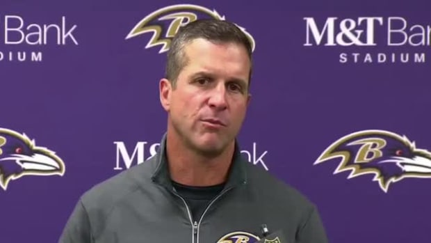 John Harbaugh thinks Steve Smith Sr. will return to NFL despite plan to retire--IMAGE